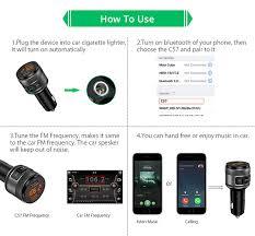 VANJEW C57 <b>Quick charge 3.0 Car</b> Bluetooth FM Transmitter Dual ...
