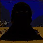 Einfacher muslimischer HijabNiqab-Schleier Burka-Gesichtsbedeckung Traditioneller islamischer Schleier