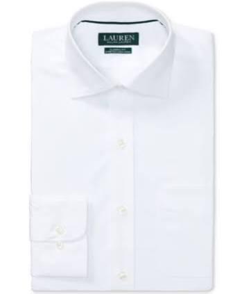Weiß Bügelndes Popeline Lauren Männer Geschnittenes 35 Ralph Nicht Elastisches Normal Klassisches 15 hemd 34 AvwY8Aq