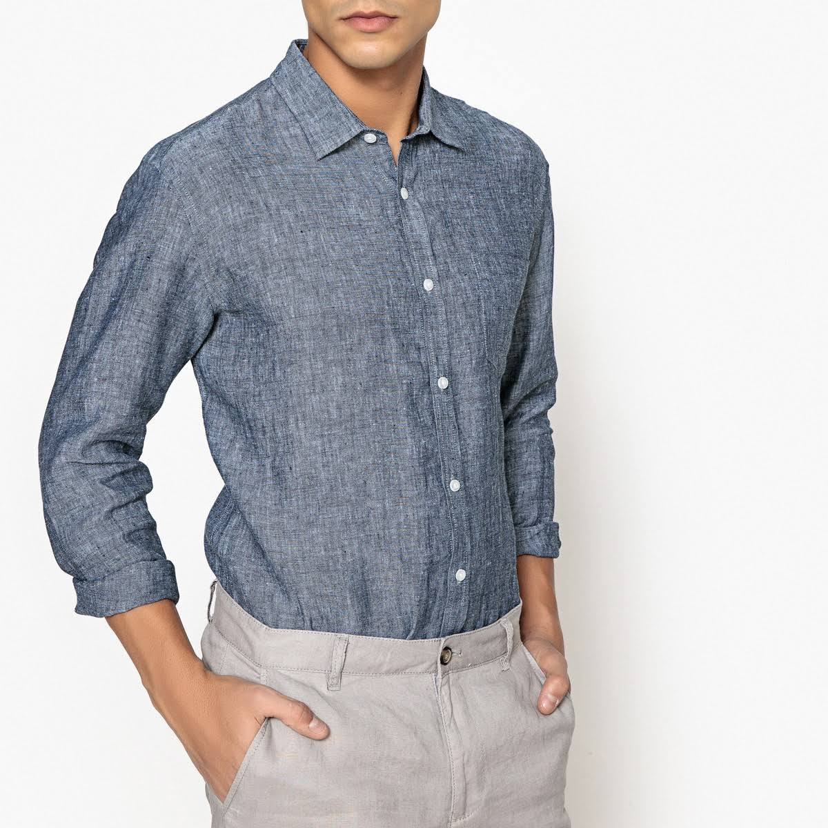 Fundas Cru Regular Lino En Redoute La Camisa P5H66q
