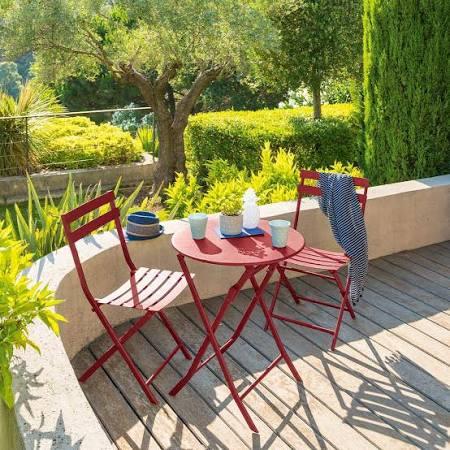 Mesa de Jardín plegable redonda Greensboro Currant | Google Shopping