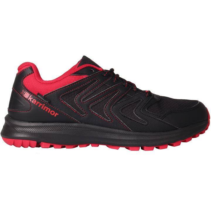 Karrimor Caracal Waterproof Trail Running Shoes Mens - Black/Red