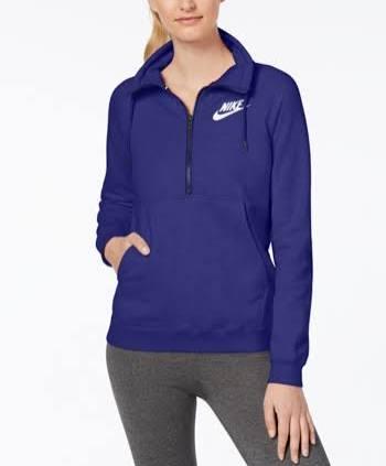 Blanco M Fleece Nike Half Sportswear persa zip Cumbre Azul Negro Top Violeta Rally q0gf0v