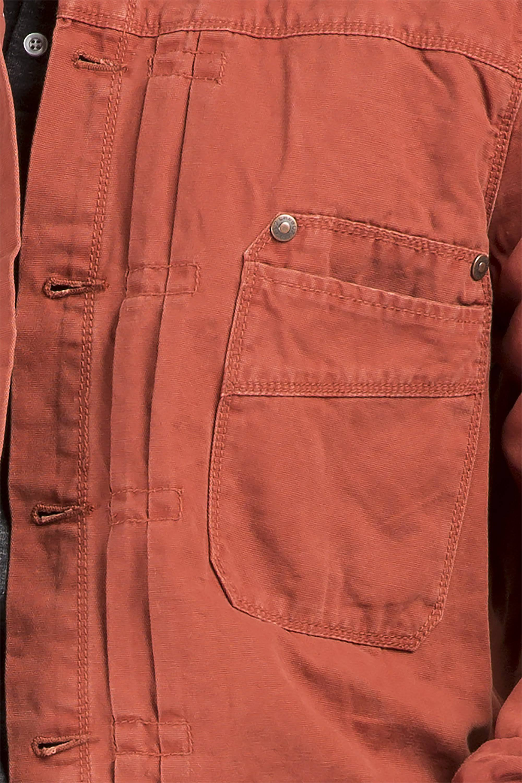 Hombres 7 De Nivel Premium Chaqueta Lona 3xl Camionero Para Algodón Roja aAw0qz