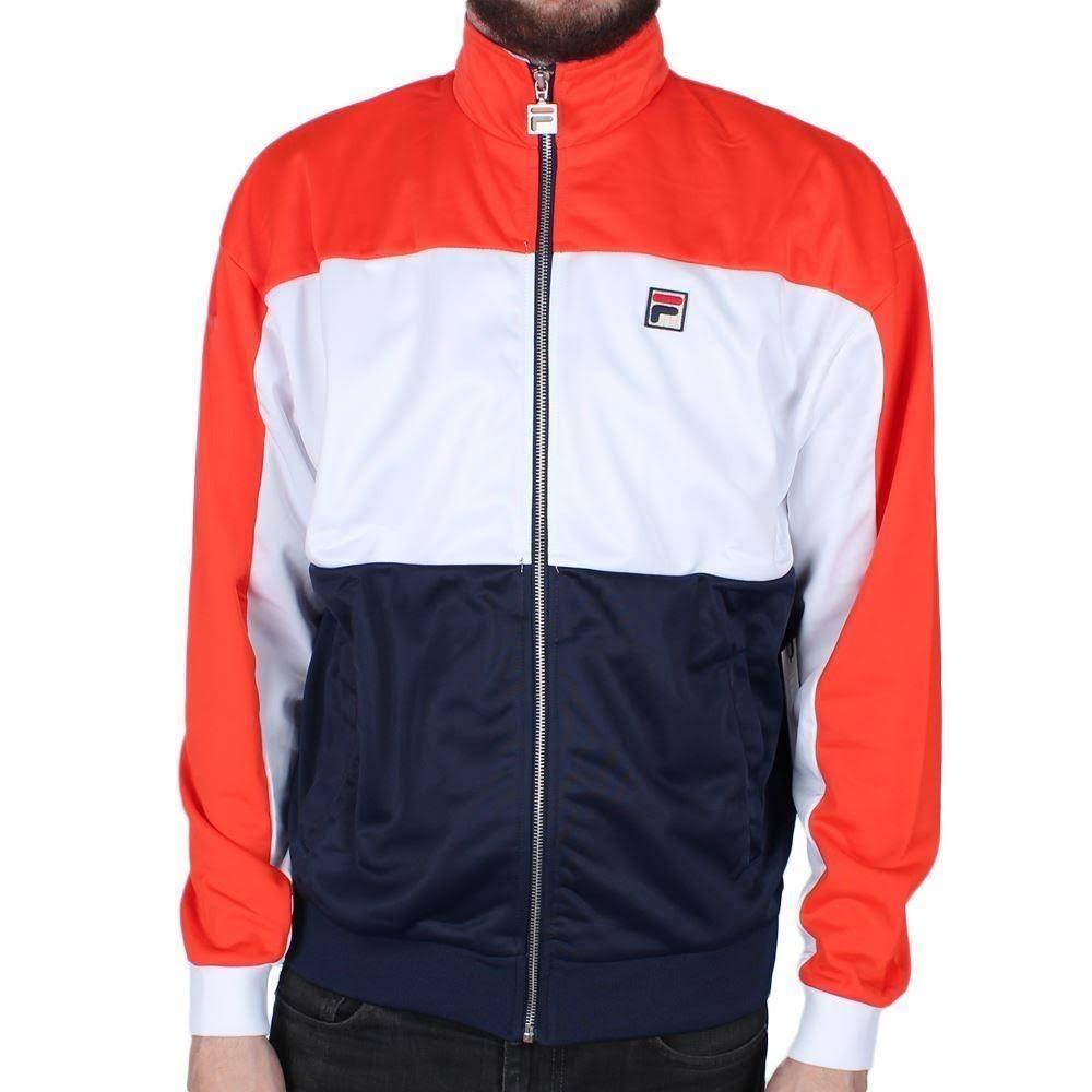 Sterling Rot Marine Weiß Fila Jacket Track dXPqnx