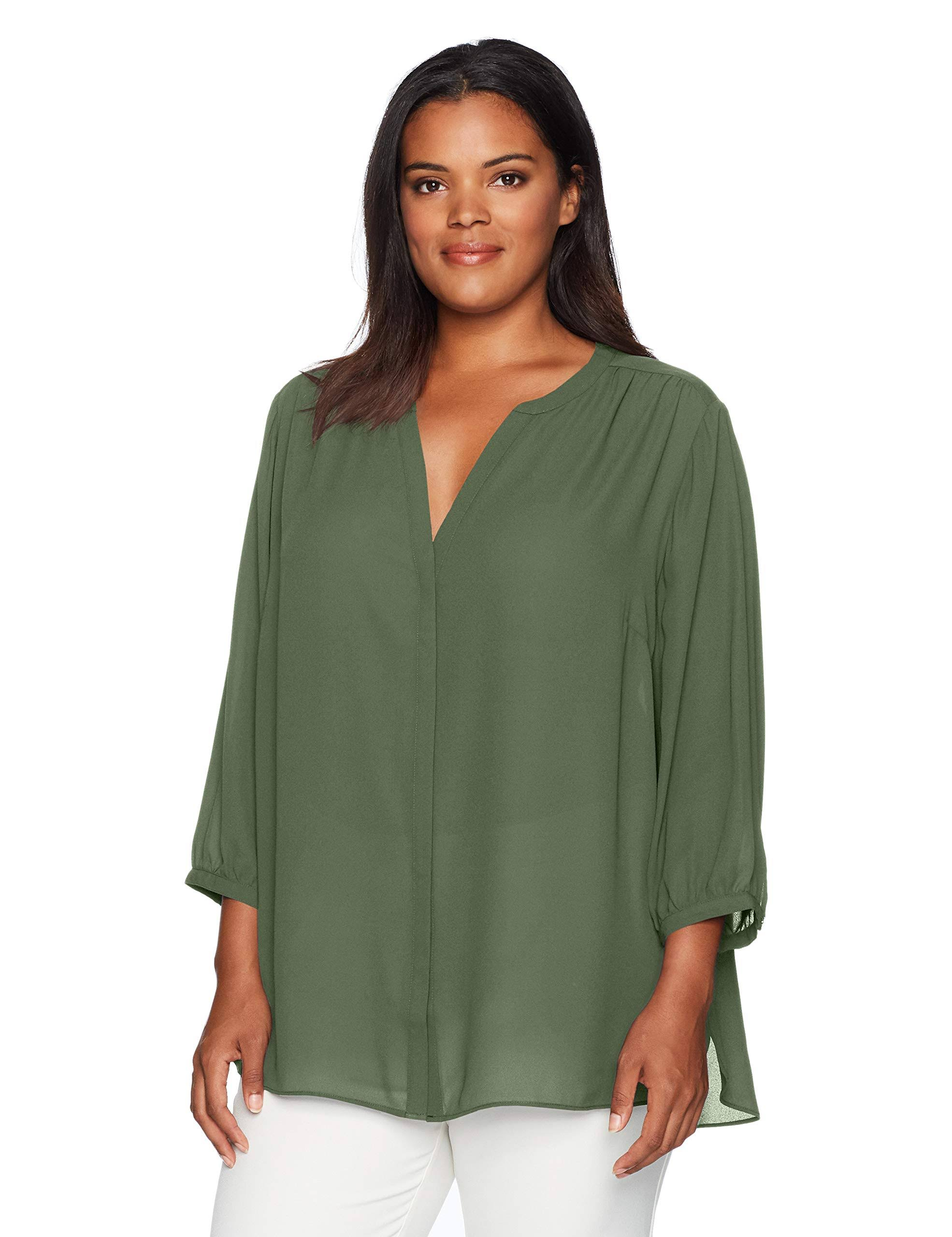 Bluse Pintuck Plus Sleeve 4 3 Womens Nydj wxqRZX8Un