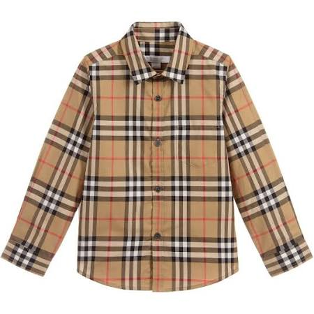 Burberry Fred Check Camiseta Boys Cotton zXrz4