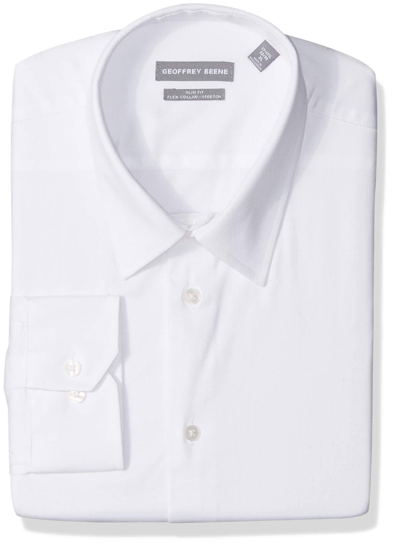 Beene A Camisa Geoffrey Elástico Cuello De Cuadros Hombre Blanco Para Flexible Vestir TFccqUwf