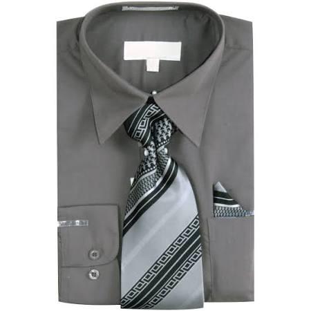 Para Corbata De Pañuelo Variada Hombre Camisa Básica Gris Tejida Con Vestir Y 6gftqa