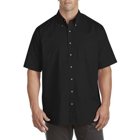 Negro Para Hombres Fácil Hombre 1xlt Cuidado Camisa amp; De Big Tall Deportiva Bay Tamaño Harbor 6wqx5TR