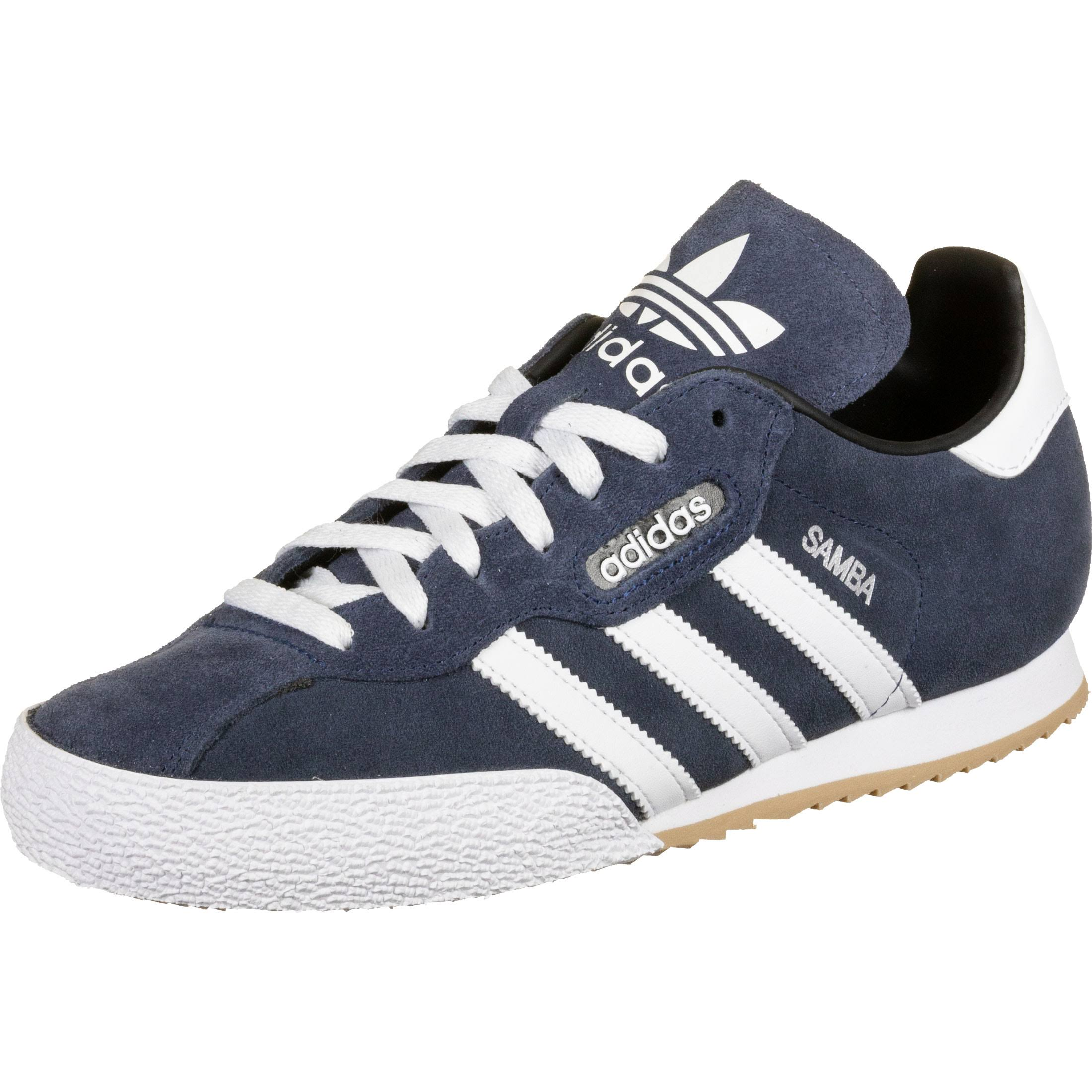 (11) Adidas Originals Samba Super Suede Trainers - Navy