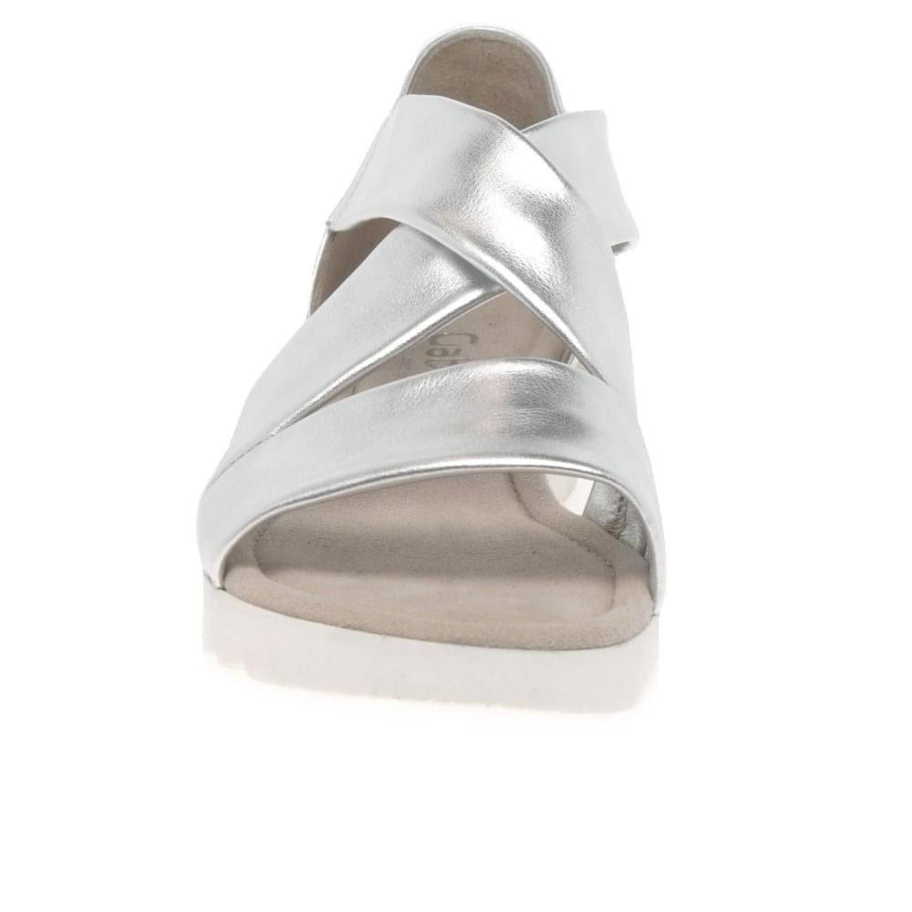 Gabor Promise Ladies Sandals Colour: Silver, Size: 8  y0dETZ