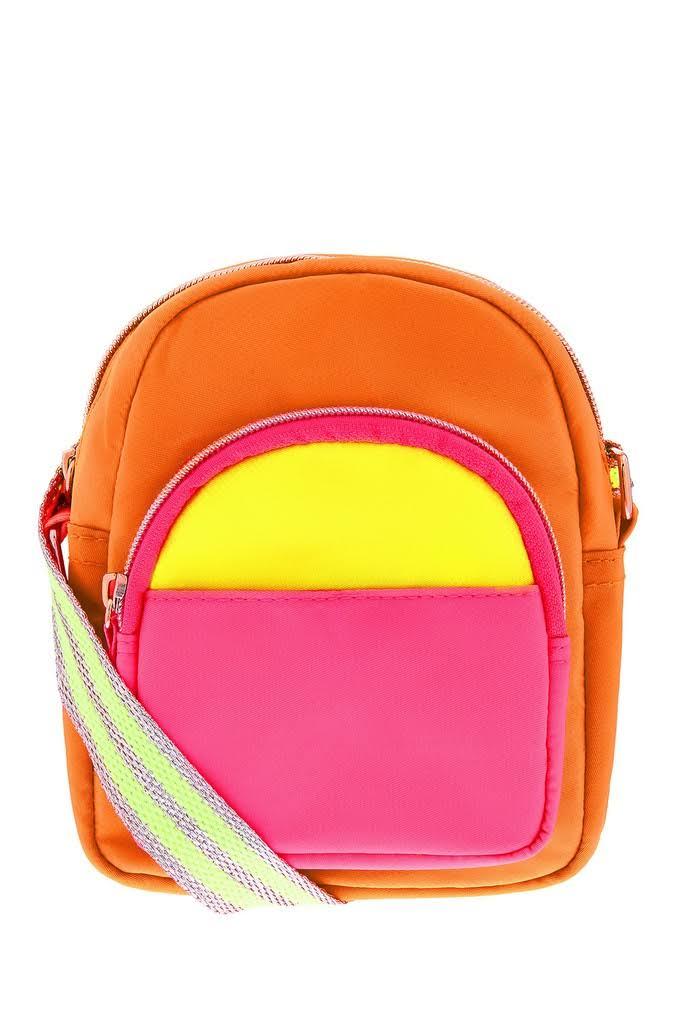 Accessorize Girls Neon Utility Cross Body Bag - Multi, Multi