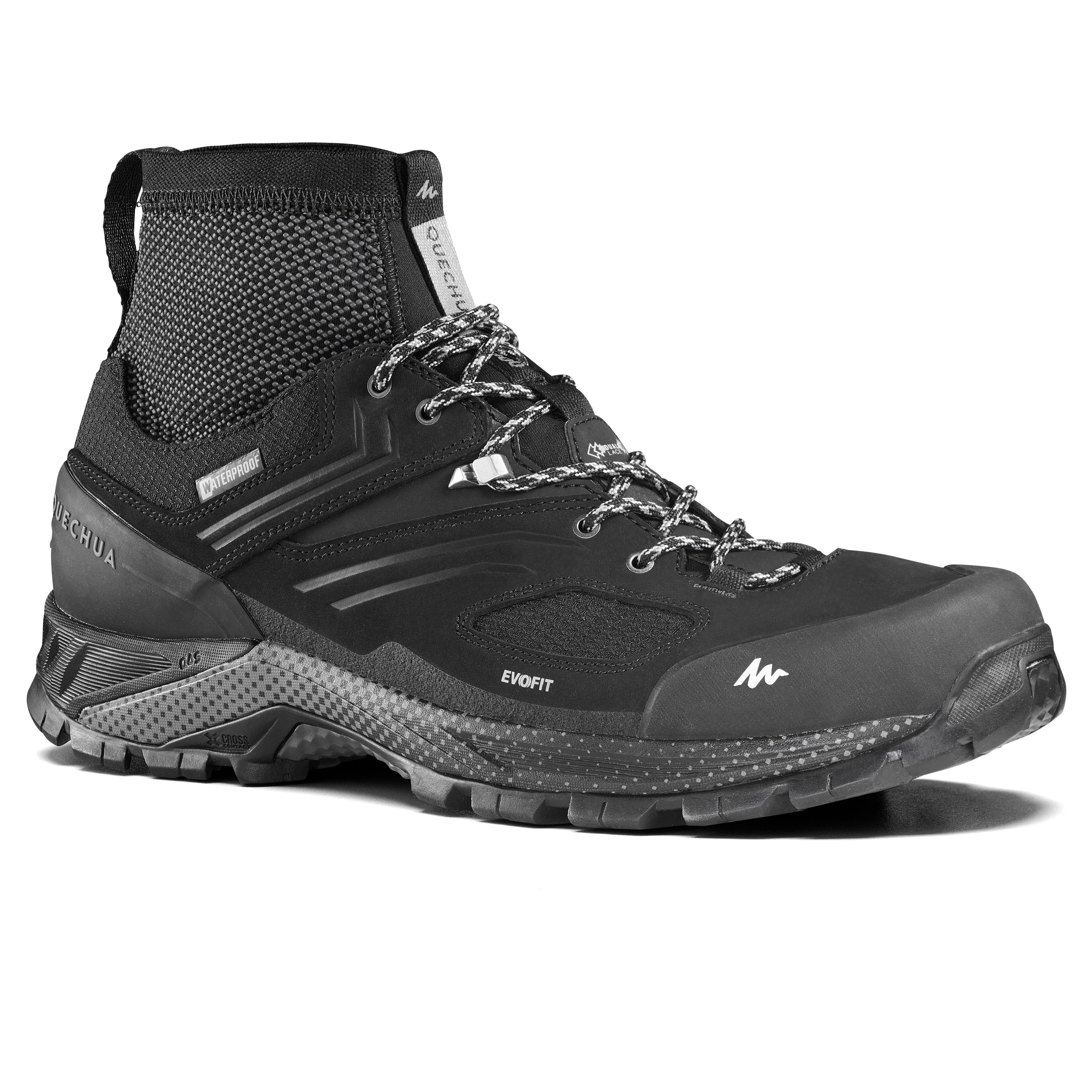 Quechua Mh900 Mens Waterproof Walking Shoes - Black