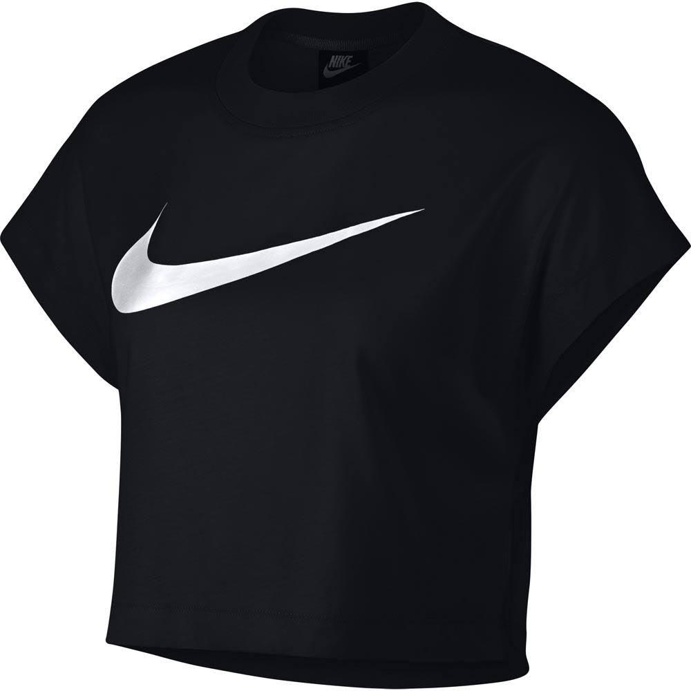 Nike Mujer Corto Top Manga Sportswear Para Negro De Corta Swoosh wHPgqw