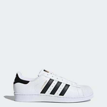 Hombre Blanco C77124 Black Running Originals Core White Negro Calzado Adidas Superstar 7wRn1U