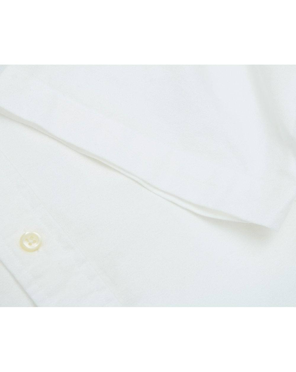 Ralph Blanca Lauren Camisa Slim Manga Fit De Corta qxFCq08wr