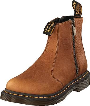 2976 Boots Rød Dame Dr 41 Boots Chelsea zips Sko Støvler Brun Tan amp; Martens W 5POrngP