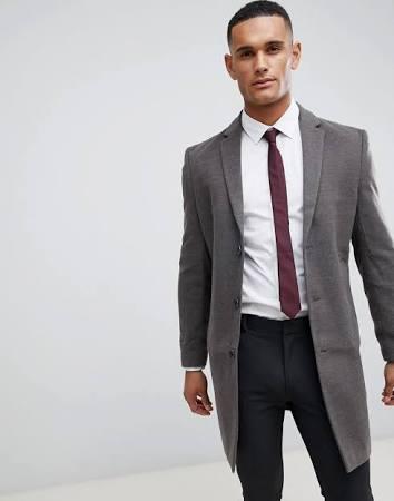 Herren Mid Coat Look Grau Xxl Classic Mantel Smart New Größe Bw6CqaYWx
