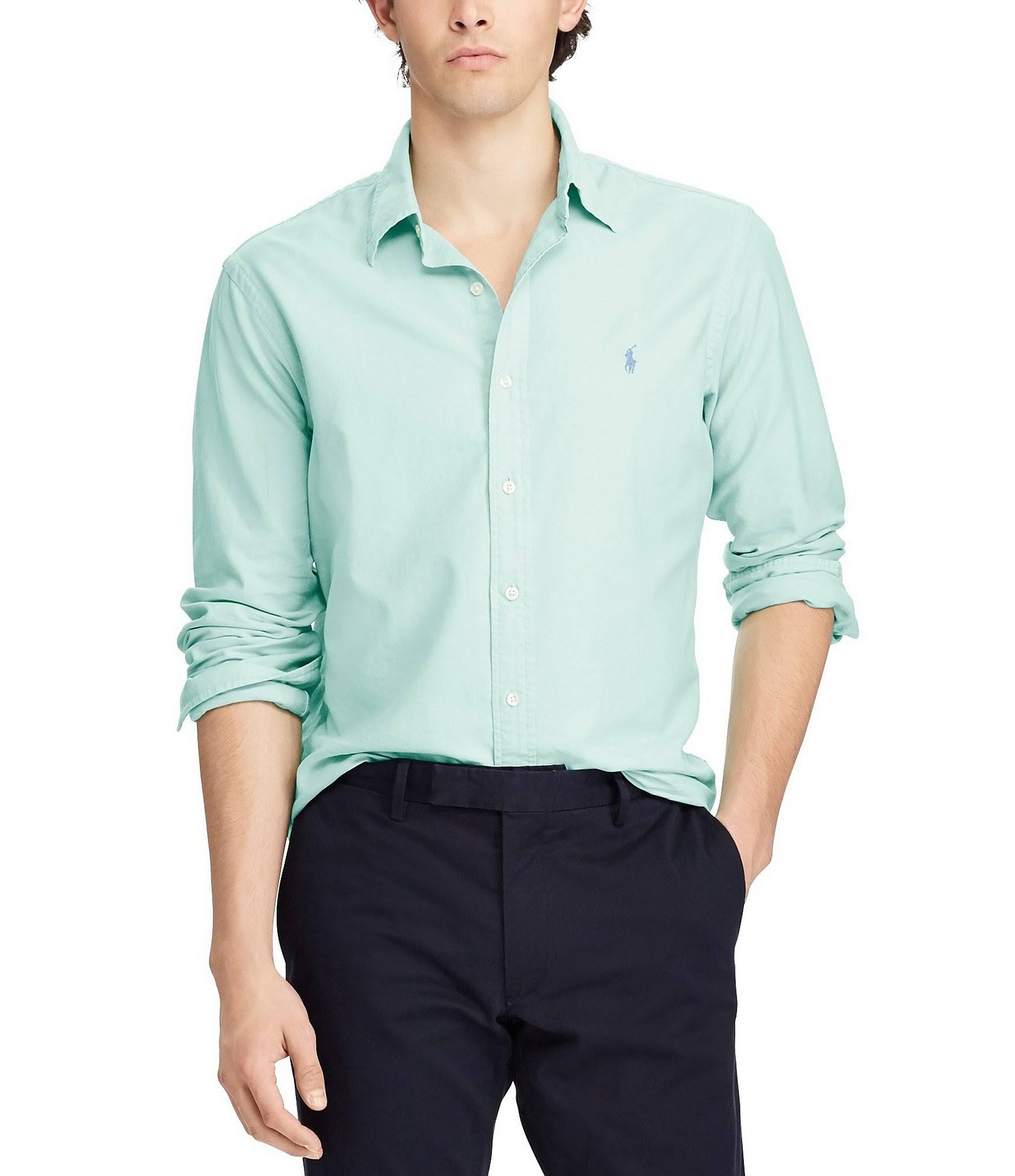 Fit Shirt Slim Green Lauren 2xl Bayside Ralph Oxford Xxl Tamaño En Iq6EcwH