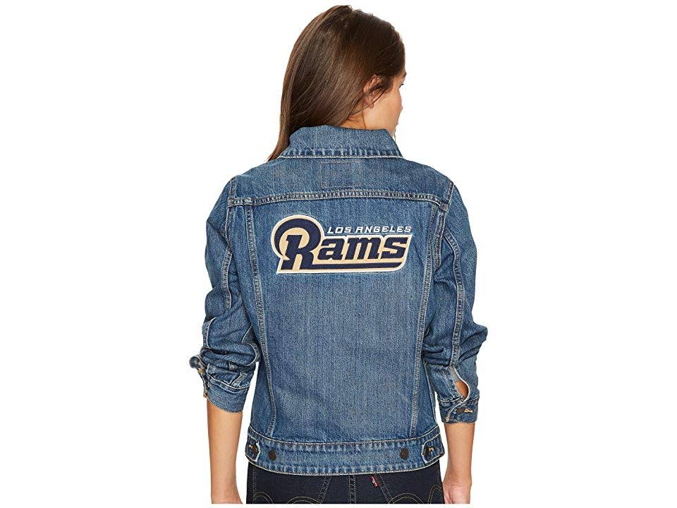 Fútbol Gratis Envío Jacket Los Angeles Large Rams Jean Levi Trucker Womens wCREqCv