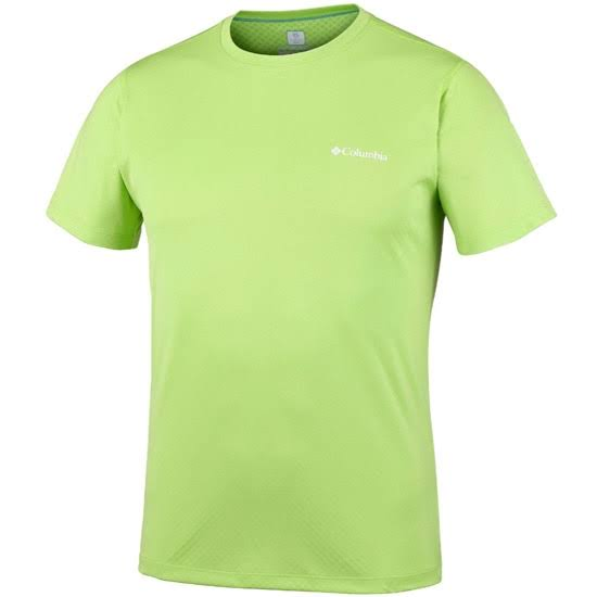 Zero Manga Camiseta Con S Verde Flúor De Rules Corta Columbia TqSwa0Z