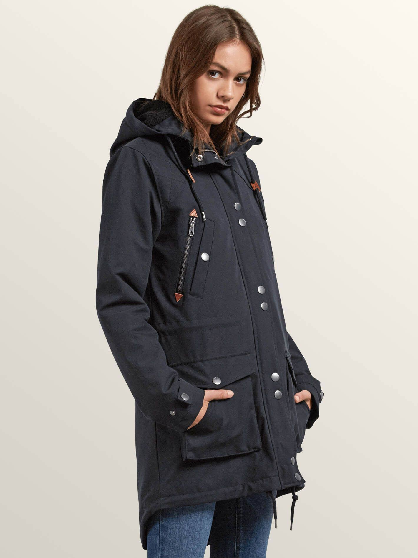 Parka Xs Walk Volcom On By Black qAXx7wt