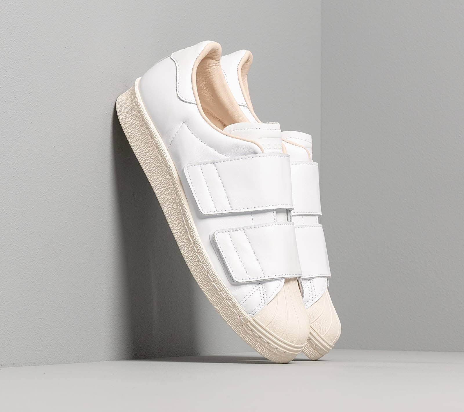 Women's adidas Superstar 80s CF White White Linen