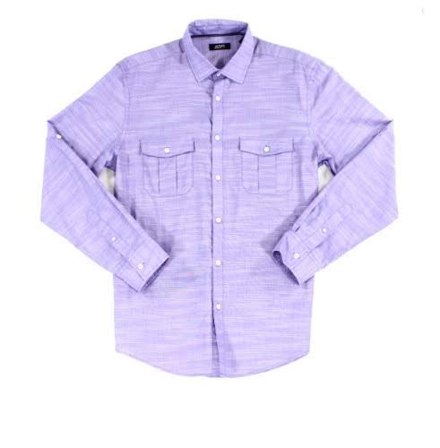 Púrpura Camisa Creada Manga Larga Macy's Warren Para De Alfani Hombre Lila Lush BSgwdqvBR