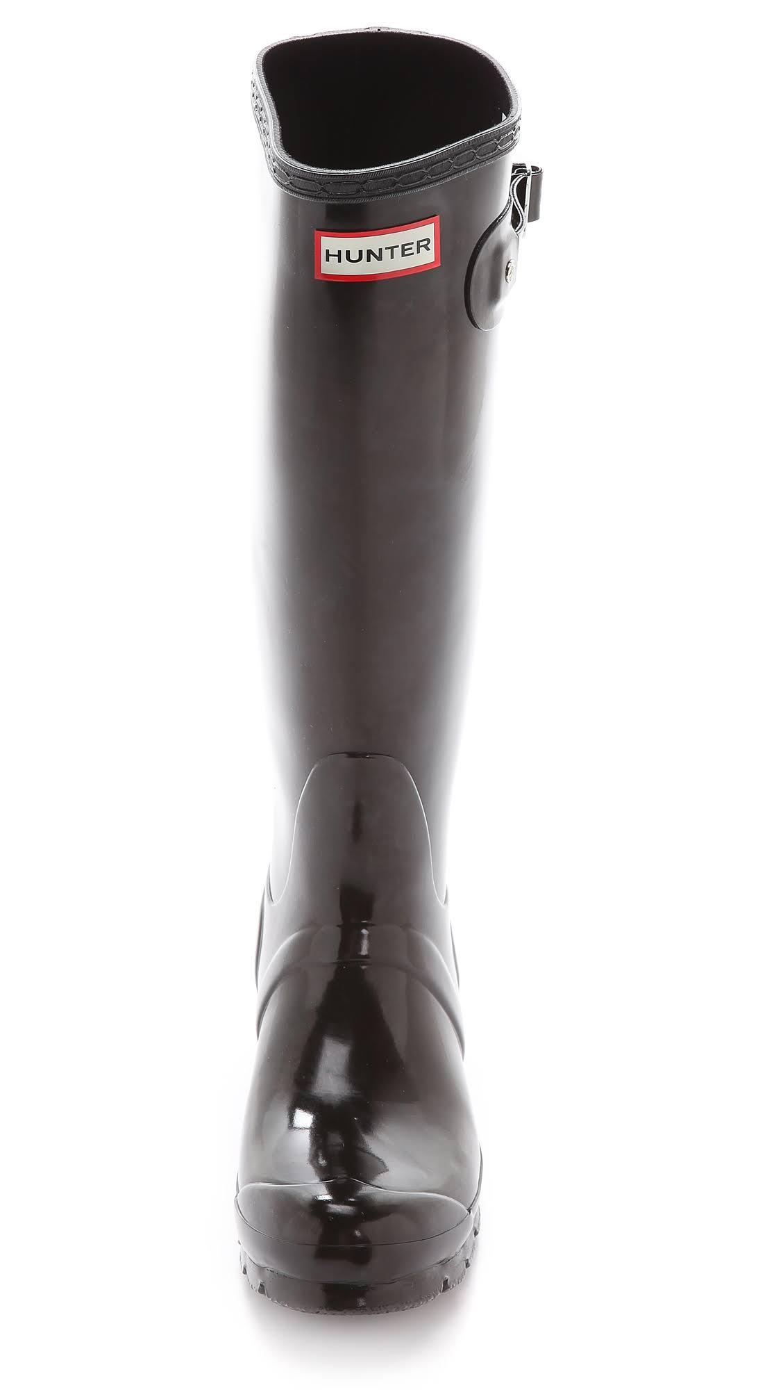Hunter Ladies Black Tall Wellies Gloss Original aqxarHR
