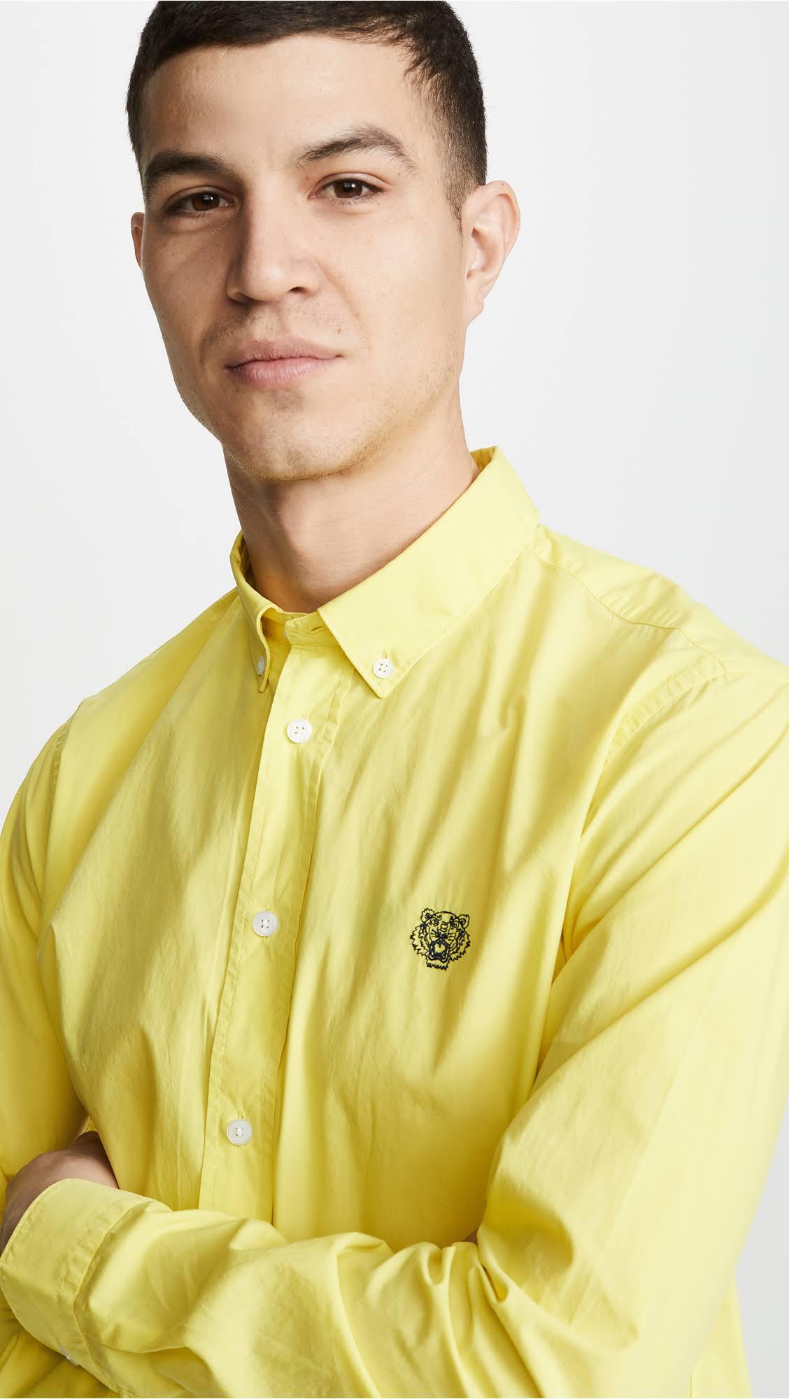 Informal Limón Tiger M De Camisa Crest Corte Kenzo qTBS7fq
