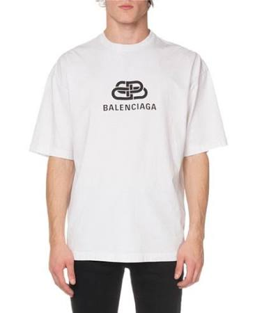 Pequeña Bb Hombre Camiseta Balenciaga Men's Mode Regular Blanca zxf7wq