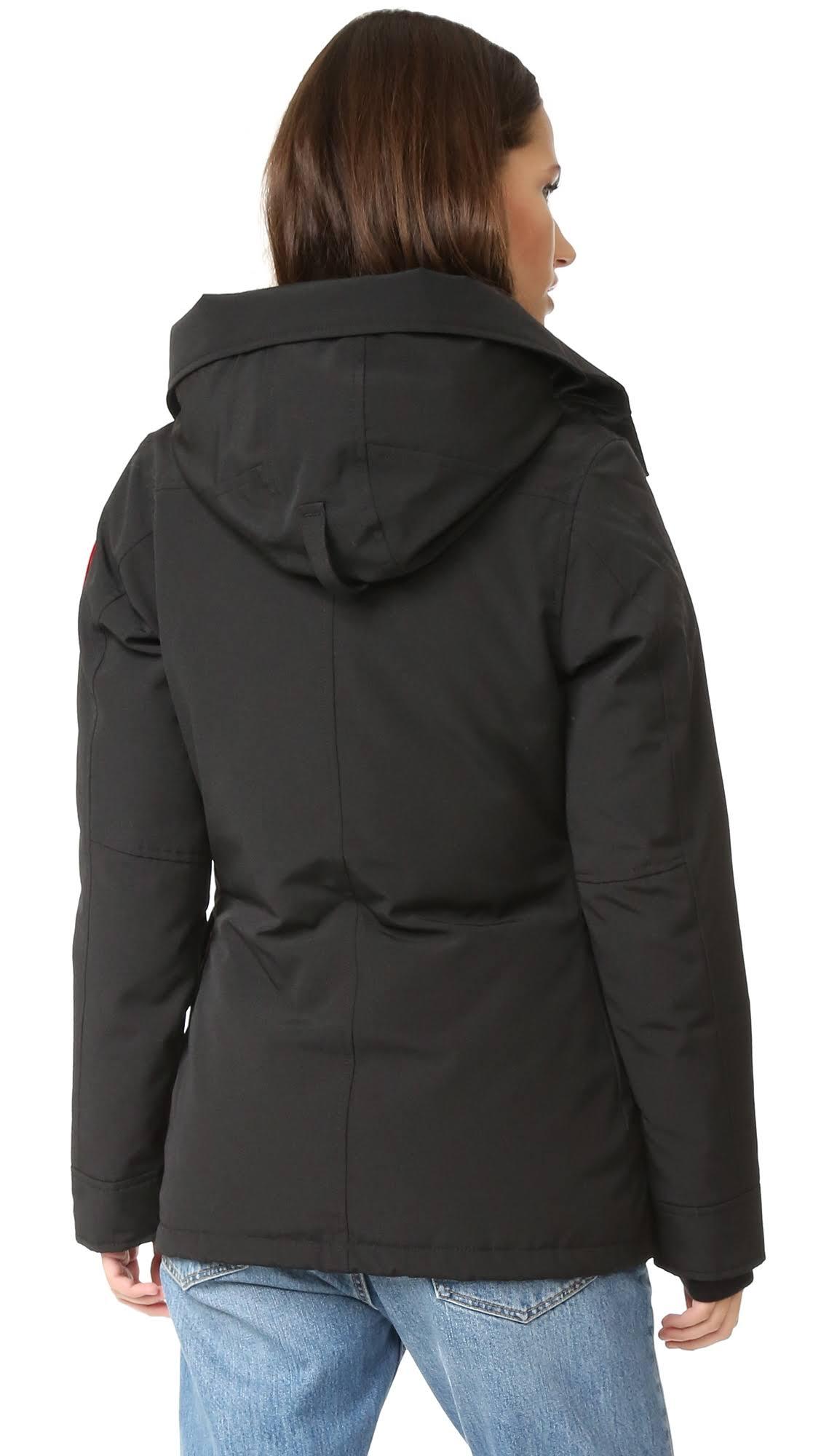 En Mediana Rideau Mujer Parka De Down Goose Canada Tamaño Negro Para w0U7TqA