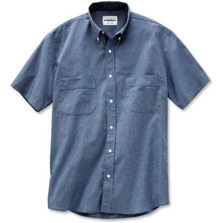 Con De L Char Cuello Azul Mini Corta Abotonado 2xl Wearguard Check Trabajo Marino Manga Camisa wFqtU