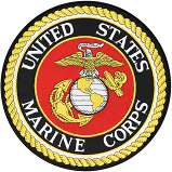 "United States Marine Corps with EGA Emblem 10.5"" Round Patch"