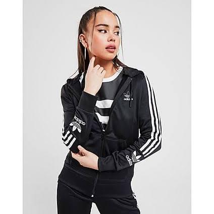 Adidas Originals Lock Up Poly Full Zip Hoodie - Black - Womens