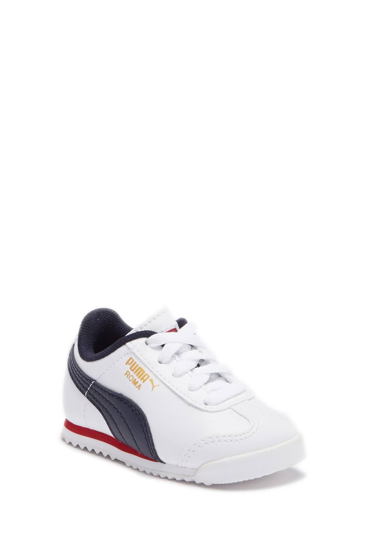 Kinder Roma Puma Sneakers Leder Sneaker White 1zafRqnfO
