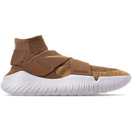 Hombre Nike Tamaño Para De Motion 12 Rn 2018 Blanco Flyknit Free Running Marrón Zapatillas 0 EzqUP