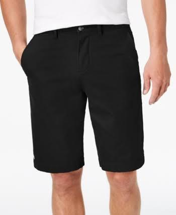Corto De Pantalón Tamaño Tipo Lacoste Chino Para 32 Hombre Bermudas Fit Negro aXRRcdq7
