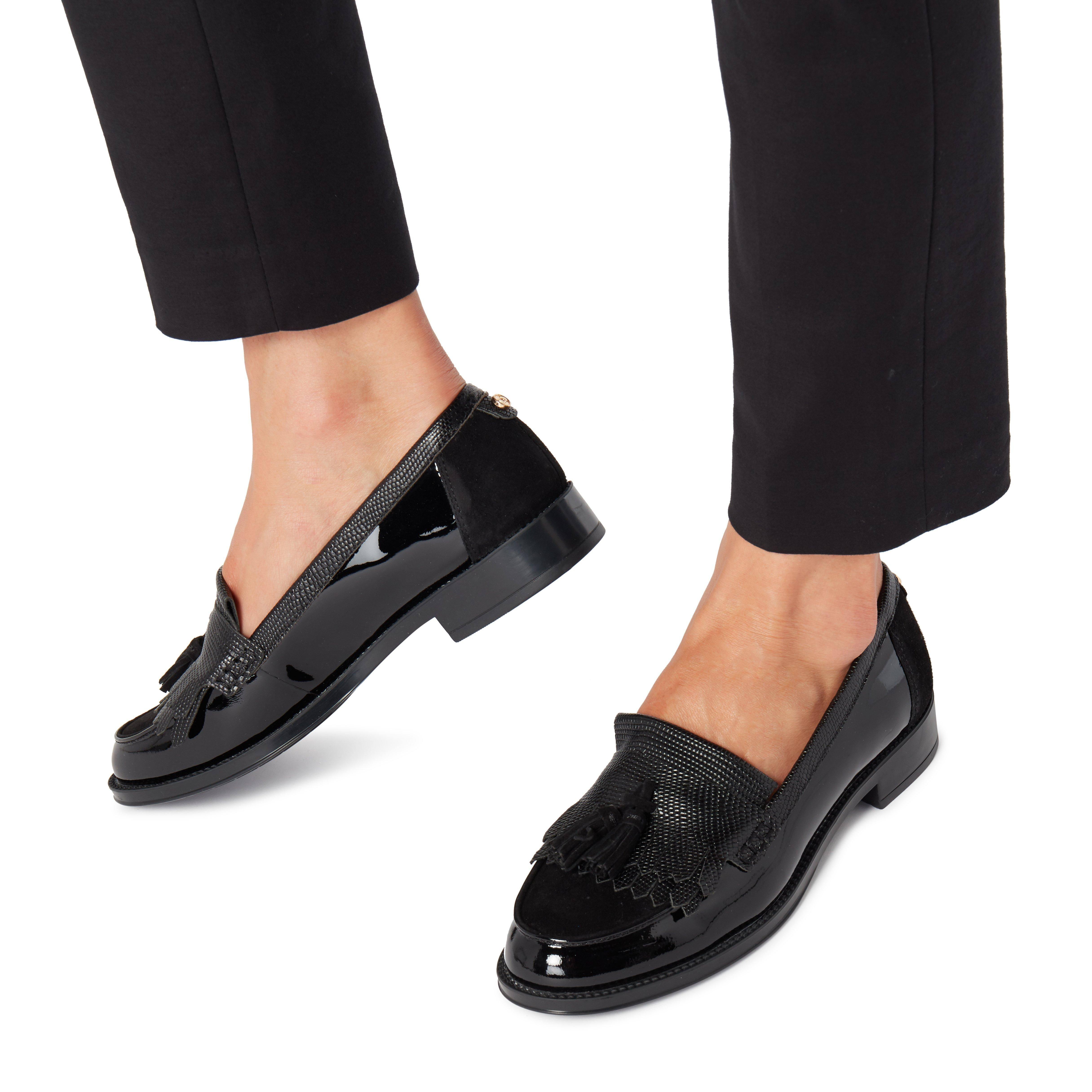 Ladies Tassel Size In 5 Black Greatly Loafer Detail Uk Dune qSpUzGMV