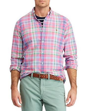 Cuadros Talla Hombre A Color Camisa Xl Oxford Polo Lauren Corte De Clásico Ralph Para Rosa ZqOvwxF8