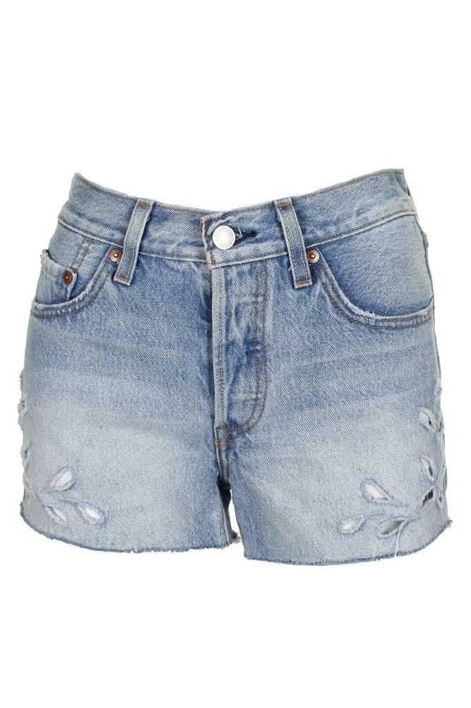29 501 Throat Cutout Blue Levi's Cut Shorts Cotton XTgXdH