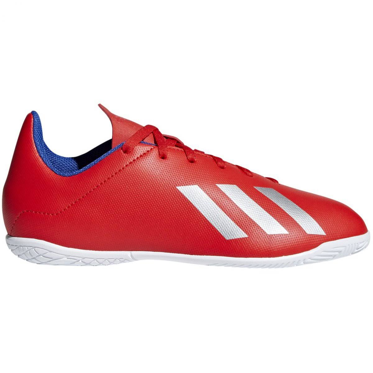 Indoor shoes adidas X 18.4 In Jr BB9410 red multicolored