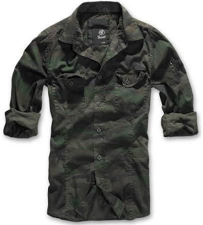 Woodland Xxl Camisa Verde Brandit Male Slimfit twvtq1