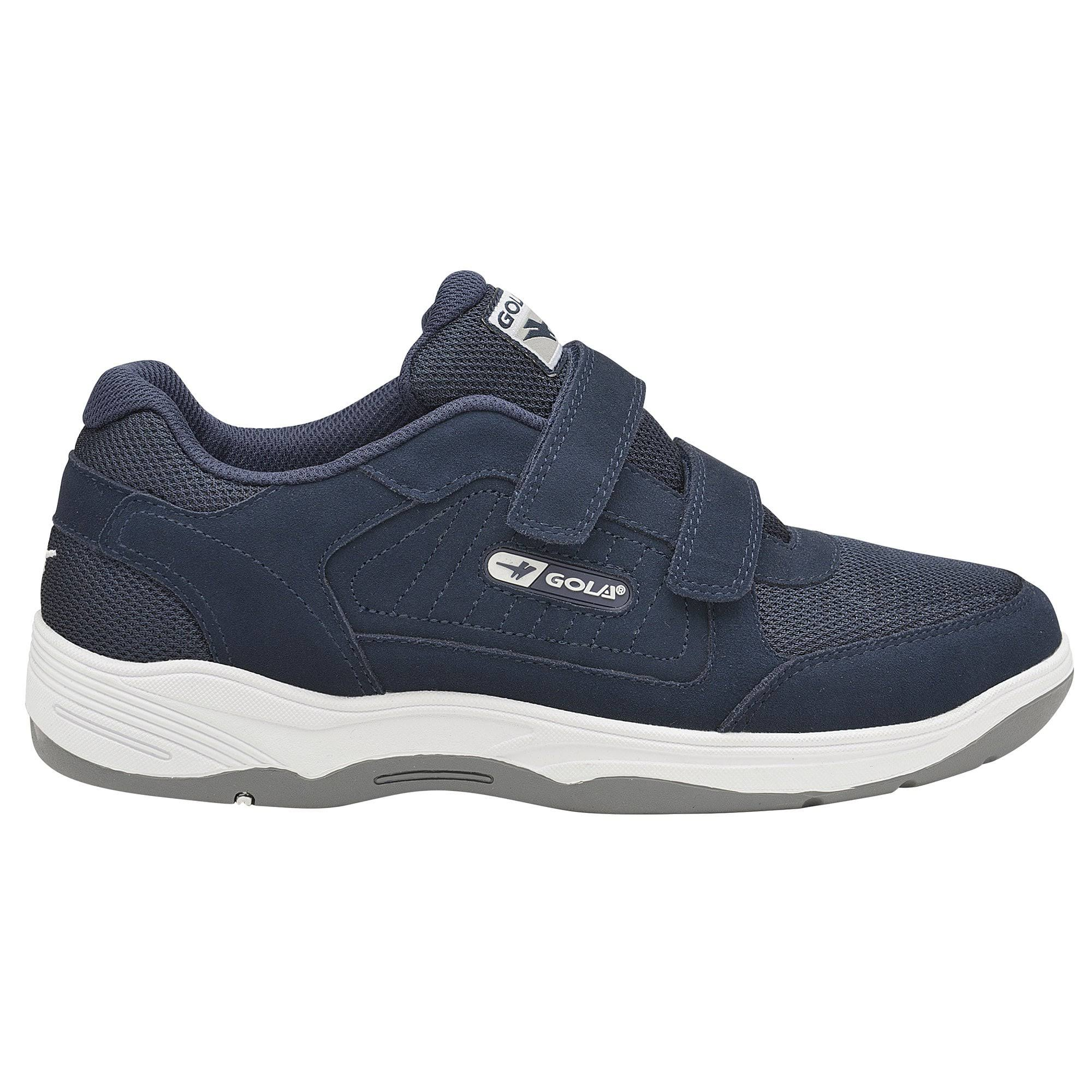 (9 UK, Navy) Gola Mens Belmont Suede Wide Fit Trainers