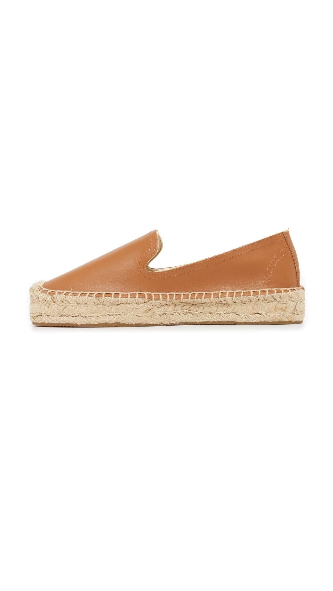 Tan Smoking 9 Leather Soludos Slippers Platform IxwAqqEUg