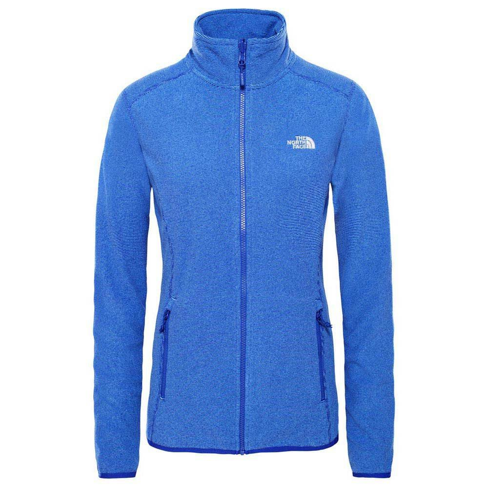 Zip Stripe Blue Face Lapis 100 Full Glacier North Fleece Damen xgzIBHqxwU
