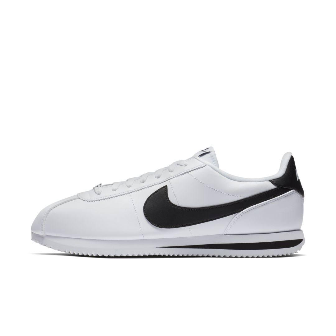 819719 100 Cortez Negro Style Nike Mens Plata Basic Leather Metálico Blanco 7wHCqX