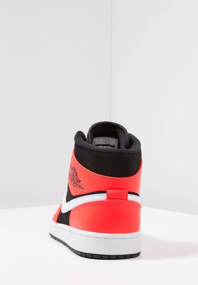 Herren 1 Rot Schwarz Sneaker Mid Jordan Air tqxa4A5w4F