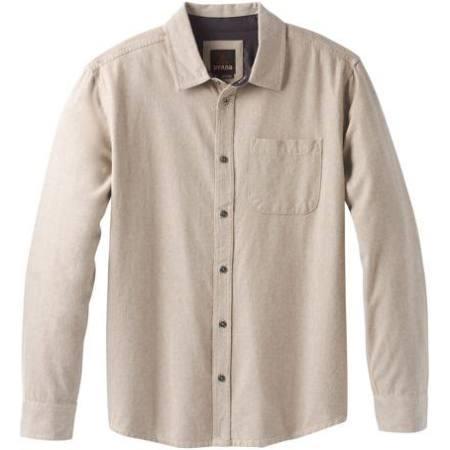 Khaki Prana Woodman L Dark Flannel Men's vntnUCP